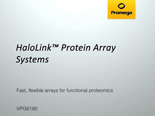 HaloLink Protein Array Systems Video